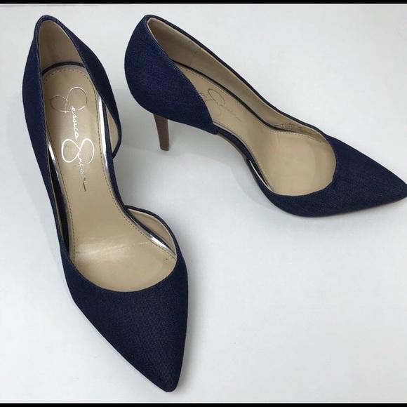 90720e61c6e Jessica Simpson Shoes - NWOT Jessica Simpson denim heels